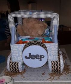 instructions for jeep diaper cake