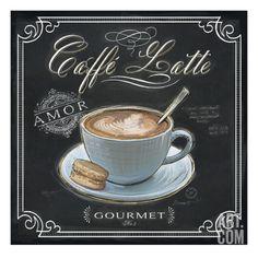 Coffee House Caffe Latte Giclee Print by Chad Barrett at Art.com