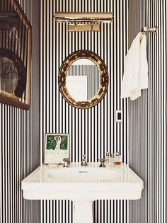 A peek into Kate and Andy Spade's striped life, by interior designer Steven Sclaroff