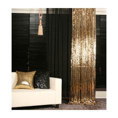 gold curtain!