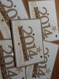 New Year cards all finished and ready for posting.  Visit my blog at www.kerrysstampinsiration.blogspot.com for more inspiration and view the online Stampin' Up! Catalogue