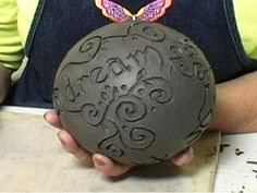 kiln carving patterns | ... words or a design into the sphere with various clay carving tools