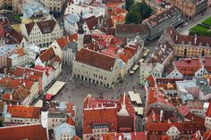One of our destinations, May 2014- Town Hall Square of Tallinn, Estonia