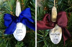 Hand-Stamped Vintage Ornaments