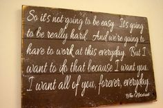The Notebook Quote Pallet Sign So It's Not Going To Be Easy Wedding Anniversary Distressed Rustic Primitive Wood Brown Wall Decor on Etsy, $60.00