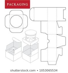 Vector Illustration of Box. Isolated White Retail Mock up. Packaging Dielines, Paper Packaging, Box Packaging, Paper Gift Box, Diy Gift Box, Diy Box, Diy Paper, Paper Crafts, Scrapbook Paper