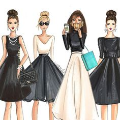 All work on this page ©Holly Nichols. Please credit if sharing 💗Boston-based professional fashion. Fashion Illustration Sketches, Art And Illustration, Fashion Sketches, Illustrations, Cute Fashion, Fashion Art, Fashion Models, Girl Fashion, Fashion Outfits