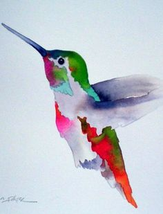 Hummingbird I love this watercolor!
