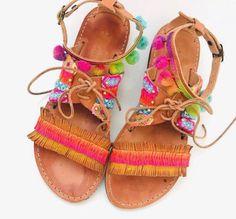 Leather Sandals, Gladiator Sandals, Boho Sandals, Handmade Sandals, Greek Leather Sandals, Friendship Bracelet Sandals, Boho Flats #etsy #shoes #women #gladiatorsandals #bohosandals #leathersandals #handmadesandals #hippiesandals #decoratedsandals