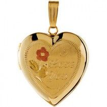 "Heart Locket with ""I Love You"" Engraving"