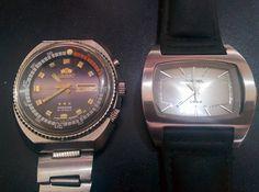 Orient KingDiver (Watch) feat Diesel (Quartz)  #Watch #Quartz #JamTangan #Jadul #Jadoel #Unik #Kuno #Vintage #Rare