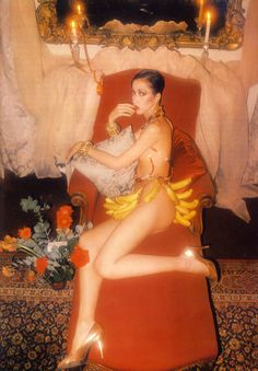 Pat Cleveland as Josephine Baker, photographed by Alan Kaplan for Vogue Italia, 1970's.