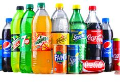 Stock Photo - POZNAN, POLAND - APR Bottles of global soft drink brands including products of Coca Cola Company and Pepsico Soda Bottles, Drink Bottles, Hennessy Drinks, Healthy Drinks, Healthy Tips, Cola Drinks, Poster Background Design, Fruit Benefits, Drink Photo
