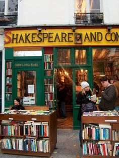 Shakespeare and Co., Paris I can say I have been here and I have the book ( with The stamp ) to prove it!