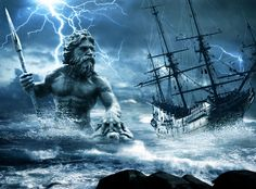 God of the sea, protector of all waters. Poseidon is the brother of Zeus. After the overthow of their Father Cronus he drew lots with Zeus and Hades, another brother, for shares of the world. His prize was to become lord of the sea. He was widely worshiped by seamen. His weapon is a trident, which can shake the earth, and shatter any object. He is second only to Zeus in power amongst the gods. He has a difficult quarrelsome personality. He was greedy.