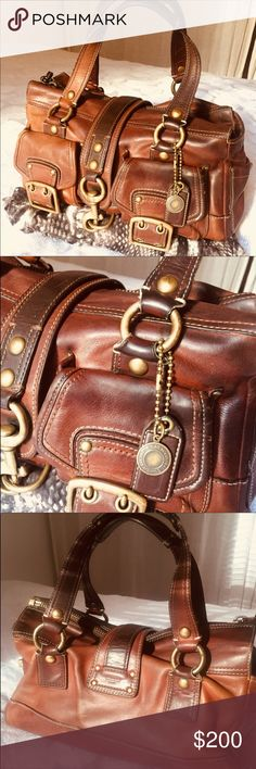 COACH Brown Leather Shoulder Hobo Purse Bag Good used condition. The leather is soft and supple, with some small signs of wear such as tone variation and some fading but no major damage to note. The inside looks great, nice and clean with no structural damage. All hardware is functional. Original hang tags included Coach Bags Satchels