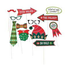 Ugly Sweater Photo Stick Props - OrientalTrading.com