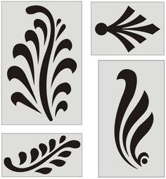 Patterns and Motifs Woman Sweatshirts phenomenal woman sweatshirt Stencil Patterns, Stencil Designs, Paint Designs, Embroidery Patterns, Stencil Painting, Fabric Painting, Stenciling, Border Pattern, Pattern Design