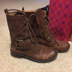 Nine West Combat Boots