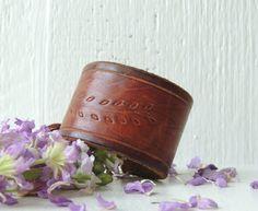 Tooled Leather Cuff Bracelet/Floral Vine Leaves/Boho by AFOLKTALE