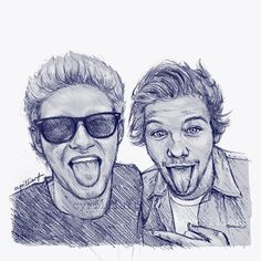"""@cyrilliart: """"Young Niall and Louis"""""""