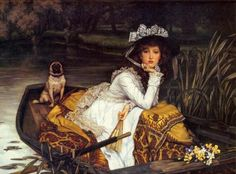 James Tissot - Young Lady In Boat - art prints and posters