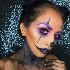 Want glitter brows for your Halloween look? @amrihearts applied our Liquid Suede Cream Lipstick in 'Amethyst' and one of our Face