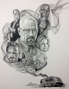 Breaking Bad by Tony Sklepic, an artist at Atomic Zombie Tattoo in Edmonton, Alberta Amazing work Tony!
