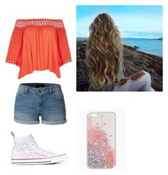 """beachy"" by savannah-christine on Polyvore featuring River Island, LE3NO and Converse"