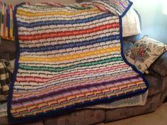 Crochet stash buster afghan