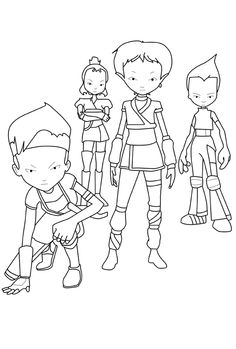 code lyoko coloring pages - photo#19