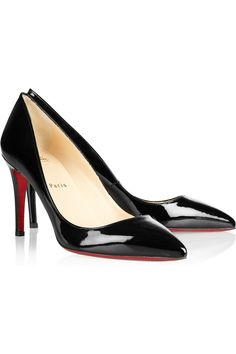 Christian Louboutin | The Pigalle 85 patent-leather pumps | NET-A-PORTER.COM