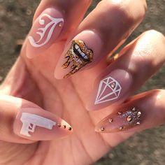 Dope Nail Designs, Cute Acrylic Nail Designs, Best Acrylic Nails, Fancy Nails, Pretty Nails, Judy Nails, Nail Designer, Fire Nails, Dream Nails