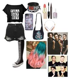 fall out boy fan #4 by gglloyd on Polyvore featuring polyvore fashion style Topshop Converse Warpaint Marc Jacobs Lancôme Frends clothing