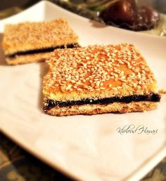 Tmreya (Date Squares) From –tamr: dates- in Arabic, It's a traditional Arabic Gulf dessert. prepared of dates, flour and butter...