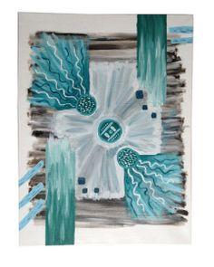 abstract schilderij turkooise