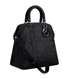 Black leather 'Dior Granville' bag
