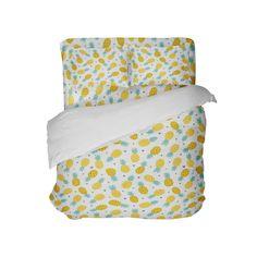 Sweet Pineapples Comforter Set from Kids Bedding Company Toddler Comforter, Twin Xl Comforter, Pineapple Comforter, Dorm Room Comforters, Beach Bedding, Pillowcases & Shams, Micro Fleece Fabric, College Dorm Bedding, Suede Fabric