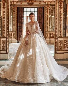 30 Chic Long Sleeve Wedding Dresses ❤ long sleeve wedding dresses ball gown with illusion lace naviblue #weddingforward #wedding #bride #weddingoutfit #bridaloutfit #weddinggown