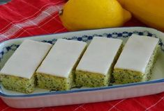 Slovak Recipes, Czech Recipes, My Recipes, Sweet Recipes, Cooking Recipes, Czech Desserts, Lemon Icing, Zucchini Cake, Biscuit Cookies