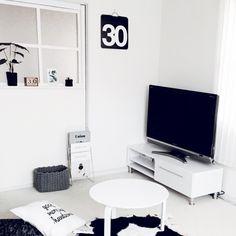 chiiiii0808さんの、部屋全体,モノトーン,北欧モノトーン,のお部屋写真