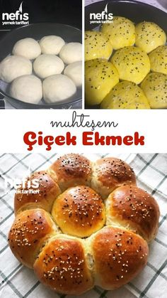 Flowers Bread (Full Metered) How to describe it? pictorial narrative of the recipes in this book, and photographs of people who tried here. Chocolate Sugar Cookies, Spode Christmas, Pumpkin Cupcakes, Turkish Recipes, Crunches, Smoothie Recipes, Cooking Recipes, Yummy Recipes, Food And Drink