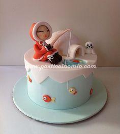 Eskimo Girl Cake - Cake by Pasticcino Mio Unique Cakes, Creative Cakes, Fondant Cakes, Cupcake Cakes, Igloo Cake, Sugar Cake, Just Cakes, Cake Boss, Cake Decorating Tips