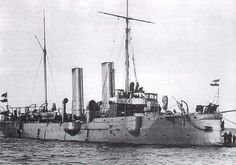 SMS Panther, built in 1885 by WG Armstrong of Elswick on the Tyne. The Leopard class cruisers, for the Austro-Hungarian Navy, were small and fast enough to undertake patrol and reconnaissance duties, while having a reinforced, battering prow and torpedoes to attack larger vessels.