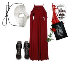 """""""Halloween 101: The Phantom of the Opera"""" by emma-oloughlin ❤ liked on Polyvore featuring Elie Saab, Ayaka Nishi and Givenchy"""