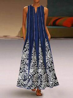 Color Block V-Neckline Sleeveless Maxi Shift Dress - Black / XS Floryday Vestidos, Swing Dress With Pockets, Shift Dresses, Maxi Dresses, Maxi Skirts, Long Dresses, Party Dresses, Fashion Dresses, Types Of Dresses