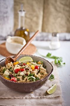 Quinoa Salad with Ricotta and Garam Masala Dressing | Playful Cooking