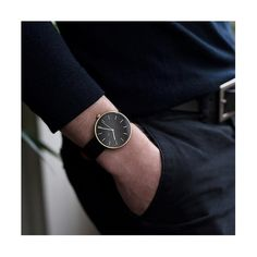 A minimalist black and gold watch with a contemporary marker dial and black Italian leather strap. Black And Gold Watch, Black Leather Watch, Red Leather, Black Gold, Watches For Men, Black Watches, Gold Watches, Men's Watches, Drumline