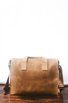 Mens Messenger Bag Multifunction Leather Briefcase Color : Yellow