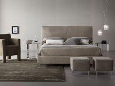 Zenas ágy nubuk bőrkárpitozással   Zenas Bed with nubuk leather upholstery  Gyártó   Manufacturer: Chaarme Italy  http://www.chaarme.com/